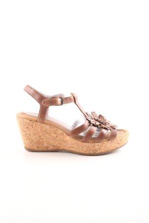 Gabor Platform High-Heeled Sandal brown casual look