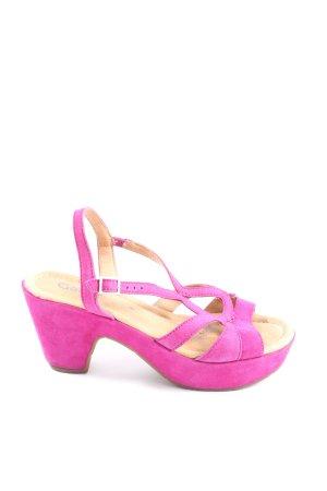 Gabor Platform High-Heeled Sandal pink casual look