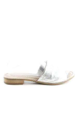 Gabor Sandalias de tacón con plataforma color plata look casual