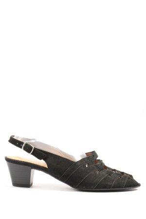 Gabor Sandalo alto con plateau nero elegante