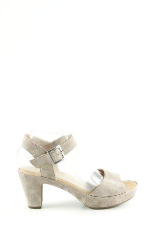 Gabor Platform High-Heeled Sandal light grey casual look