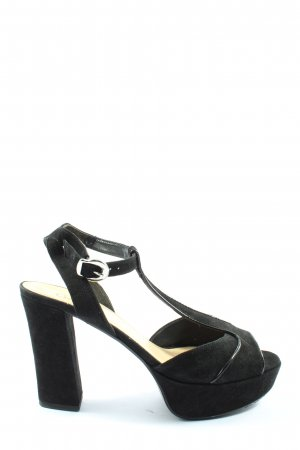 Gabor Plateau-Sandaletten schwarz Elegant