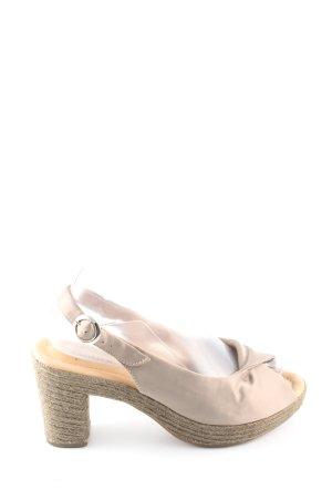 Gabor Platform High-Heeled Sandal natural white casual look