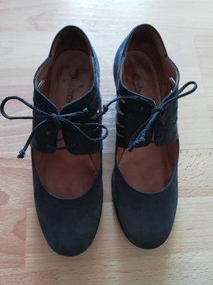 Gabor Wedge Pumps dark blue leather