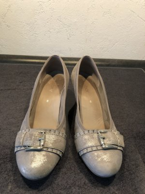 Gabor Backless Pumps silver-colored-light grey