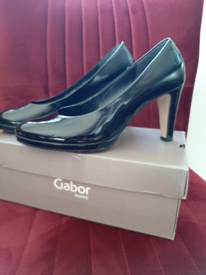 Gabor Pumps Lackleder schwarz Gr. 40