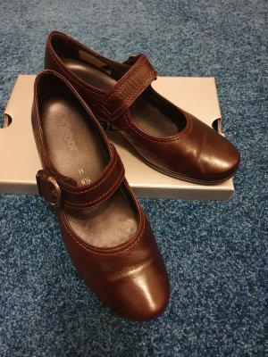 Gabor Comfort Escarpins Mary Jane bordeau cuir
