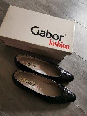 Gabor Zapatos de tacón con barra en T negro