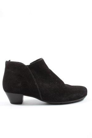 Gabor Reißverschluss-Stiefeletten schwarz Casual-Look