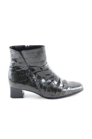 Gabor Reißverschluss-Stiefeletten schwarz Animalmuster extravaganter Stil