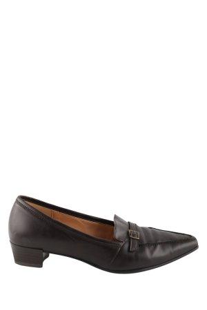 Gabor Zapatos estilo Richelieu negro look vintage
