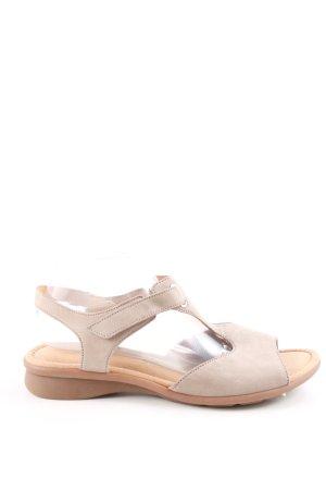Gabor Riemchen Sandaletten creme braun Casual Look