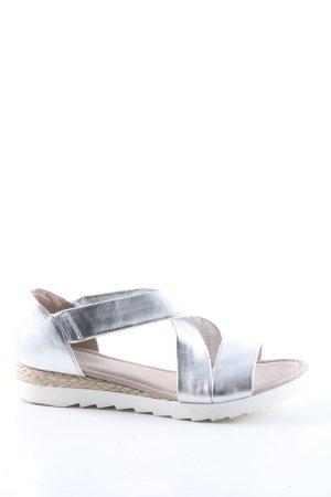 Gabor Riemchen-Sandalen silberfarben Casual-Look