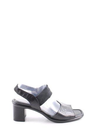 Gabor Sandales à talons hauts et lanière noir style décontracté