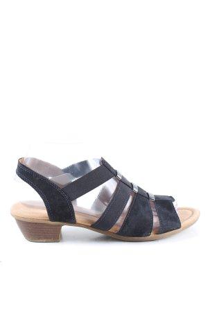 Gabor Riemchen-Sandaletten schwarz Casual-Look