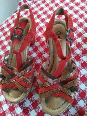 Gabor Comfort High Heel Sandal brick red