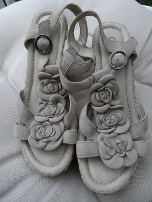 GABOR Sandale Gr. 41 - Blüten - 7 - Wedges - wie NEU