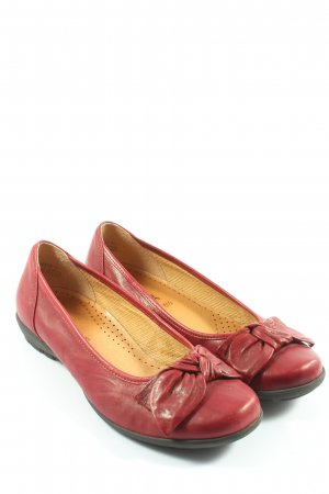 Gabor Klassische Ballerinas rot Glanz-Optik