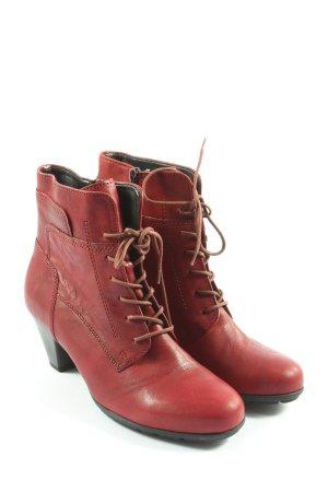 Gabor Bottines à lacets rouge style décontracté
