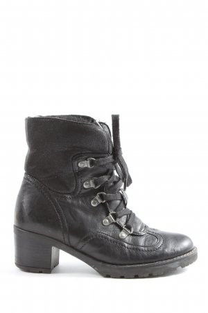 Gabor Lace-up Booties black casual look