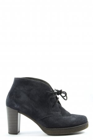 Gabor Lace-up Booties blue casual look