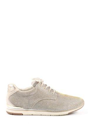 Gabor Sznurowane buty srebrny Melanżowy Z połyskiem