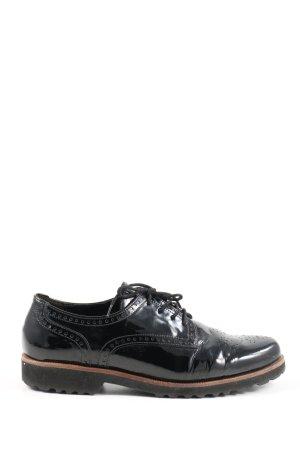 Gabor Sznurowane buty czarny W stylu casual