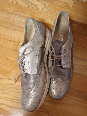 Gabor Wingtip Shoes silver-colored-light grey