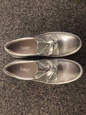 Gabor Comfort Zapatos de marinero color plata-gris claro