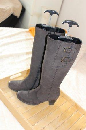 Gabor Comfort Wide Calf Boots dark brown leather