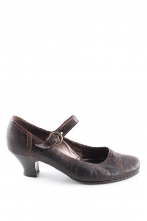 Gabor Mary Jane pumps bruin zakelijke stijl
