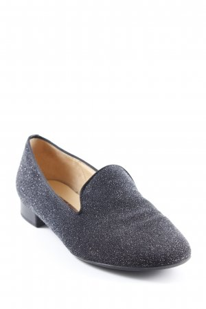 Gabor Slipper schwarz-silberfarben Business-Look