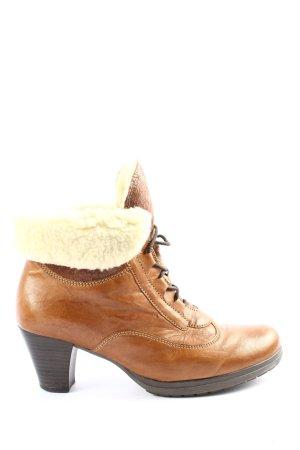 Gabor Ocieplane botki brązowy-kremowy W stylu casual