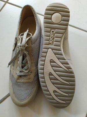 Gabor Chaussures à lacets argenté-gris clair cuir