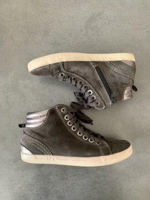 Gabor Sneaker High Veloursleder Echtleder grau 36,5