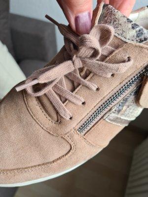Gabor Rollingsoft Sneakers met veters beige