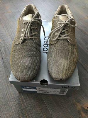 Gabor Sneaker Schnürschuh 7 platino / visione Gold