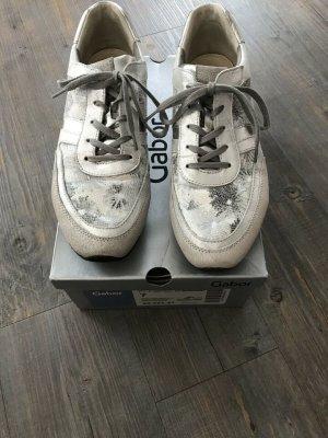 Gabor Sneaker Schnürschuh Gr 7 argento / ice / silber