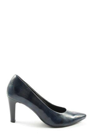 Gabor Spitz-Pumps blau Casual-Look