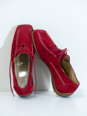 Gabor Sport Lace Shoes red leather