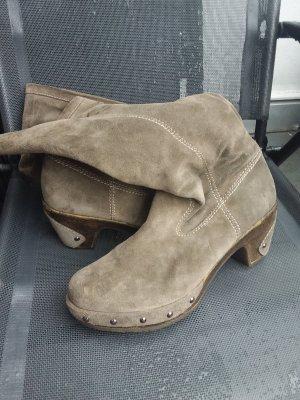 Gabor Bottes à l'écuyère gris-argenté cuir