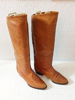Gabor Stiefel Leder Farbe Butterscotch Gr. 4 / Gr. 37 schmaler Schaft wie neu