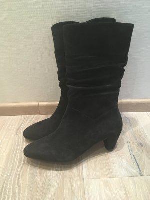 Gabor Stiefel Stiefelette schwarz Leder Wildleder Gr. 37 37,5 4,5