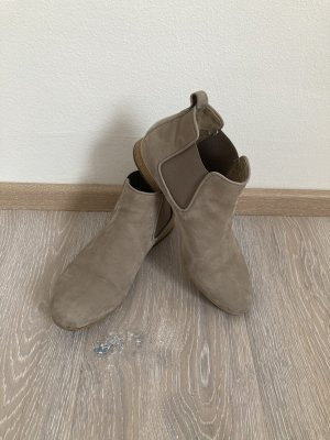 Gabor Stiefelette Boots grau braun taupe Leder Gr. 37,5 4,5