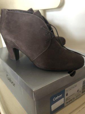 Gabor Derby grey leather