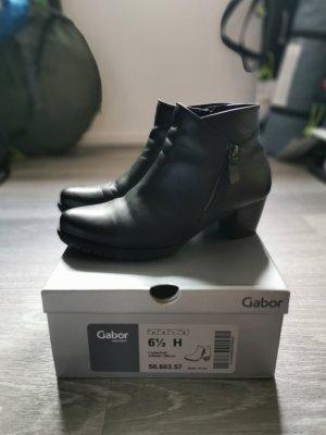 Gabor Zipper Booties black leather
