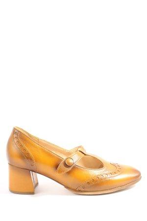 Gabor Zapatos de tacón con barra en T naranja claro elegante