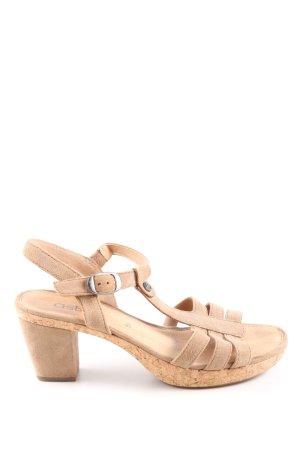 Gabor T-Steg-Sandaletten creme Casual-Look