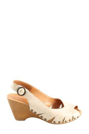 Gabor Wedges Sandaletten creme Casual-Look