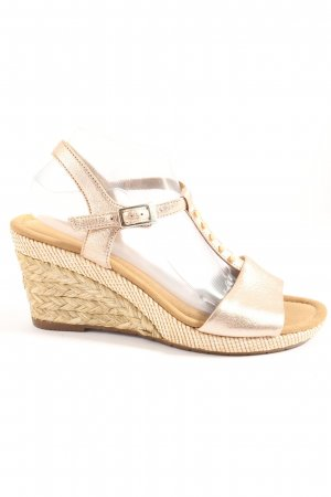 Gabor Wedge Sandals bronze-colored-nude casual look